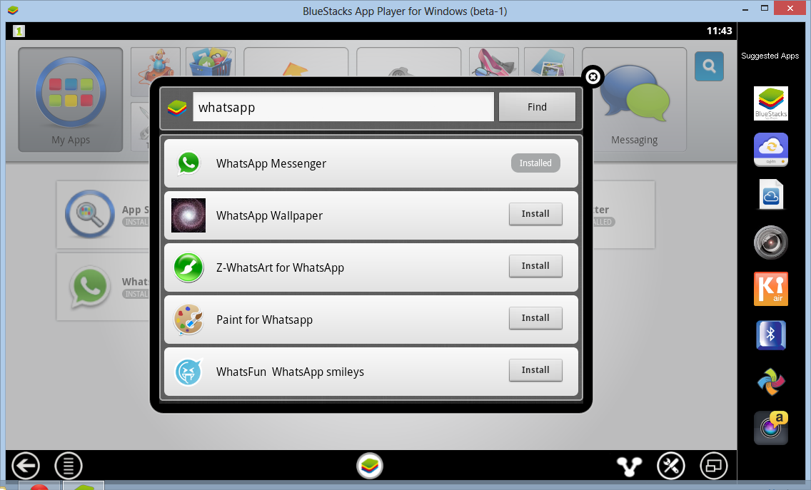 Run whatsapp on bluestacks