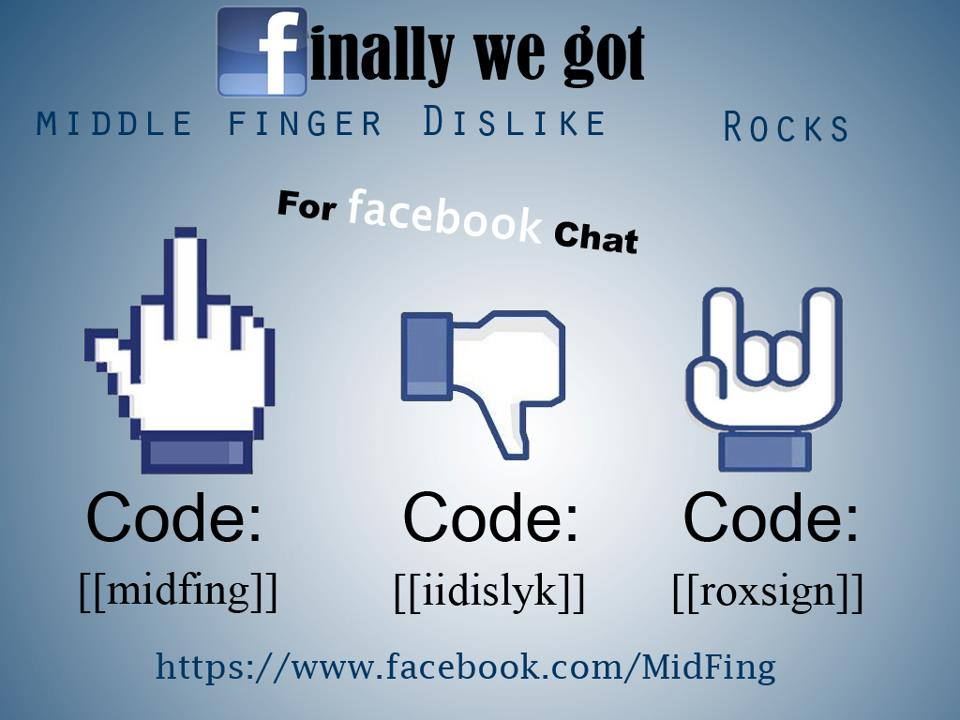 Facebook Middle Finger